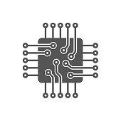Processor Vector Icon. Microchip icon. CPU icon EPS 10