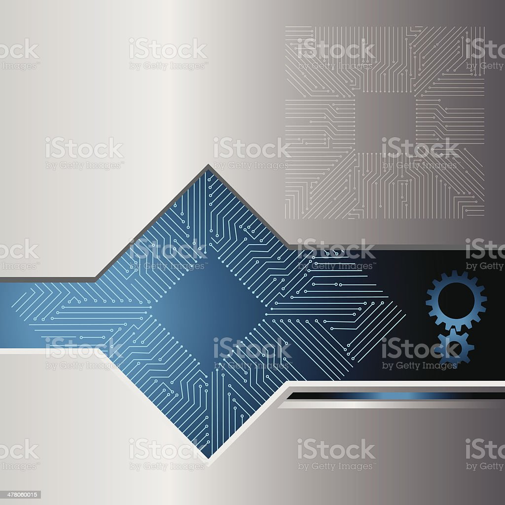 processor vector art illustration