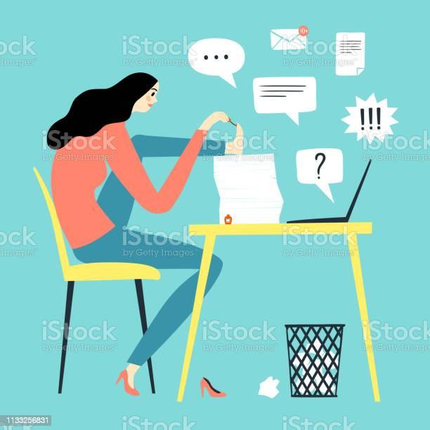 Procrastination girl cartoon illustration vector id1133256831?b=1&k=6&m=1133256831&s=612x612&h=rg qtxbcpnrissymipnshogrkps39 mo 0ismiroa20=