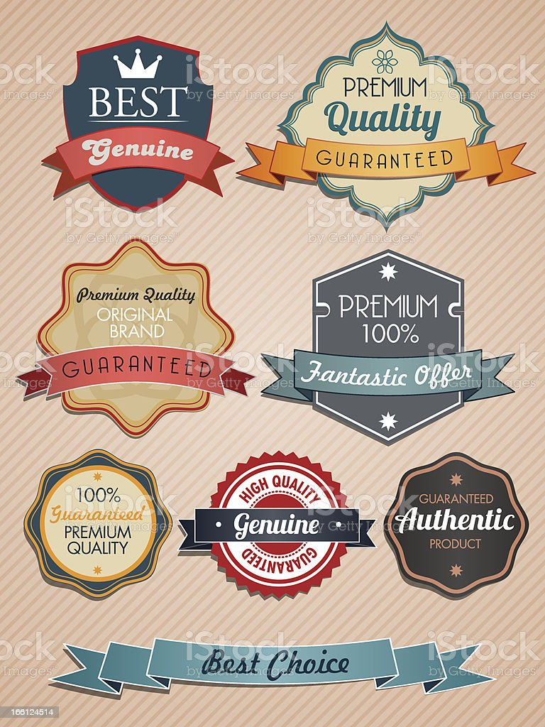 product badges royalty-free stock vector art
