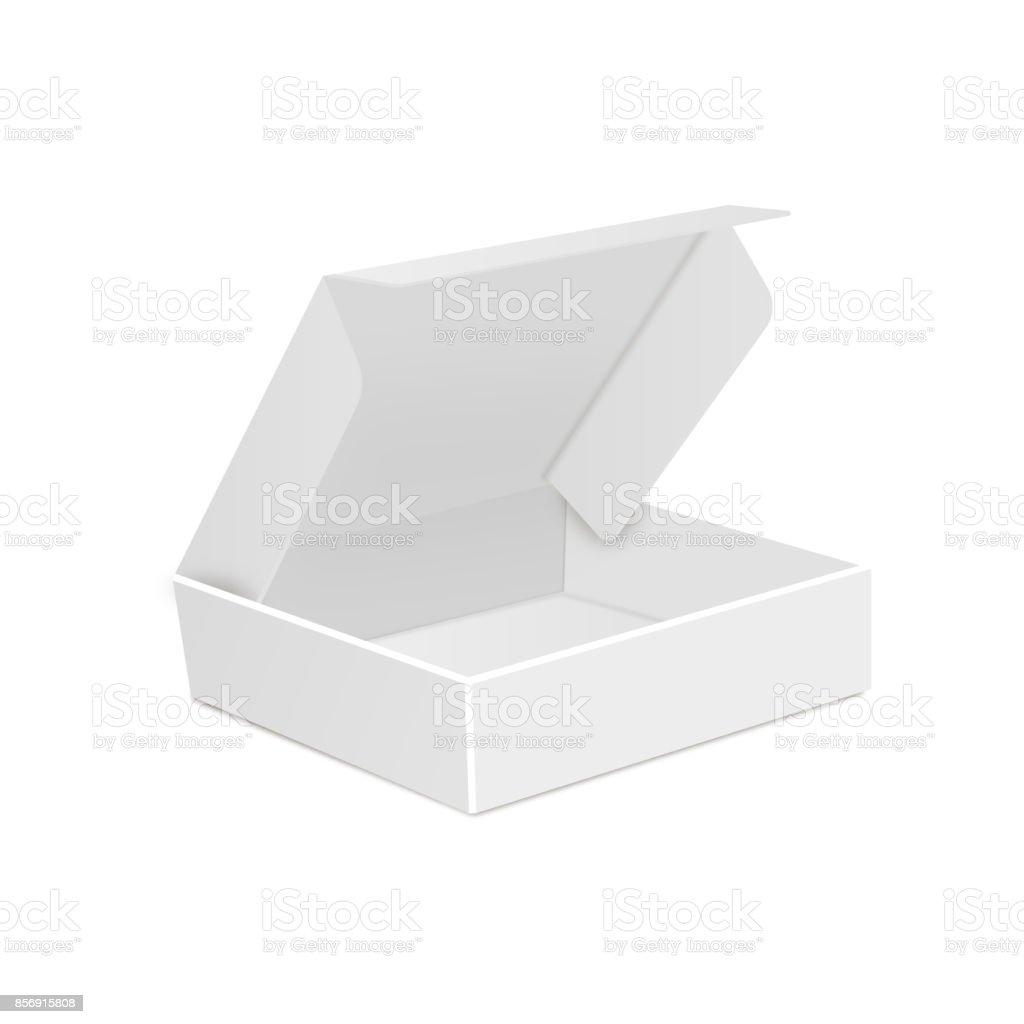 Caja De Cartón Del Paquete Del Producto Ilustración Aislado Sobre ...