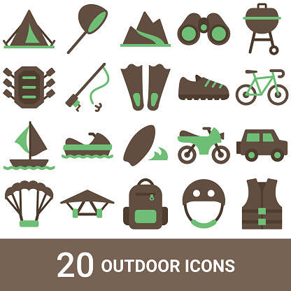 Product icons, outdoor, color, 20 sets