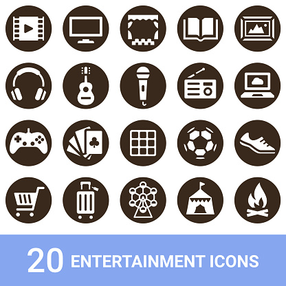 Product icons, outdoor, white, 20 sets