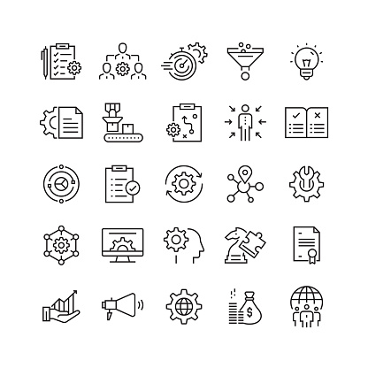 Product Management Related Vector Line Icons clipart