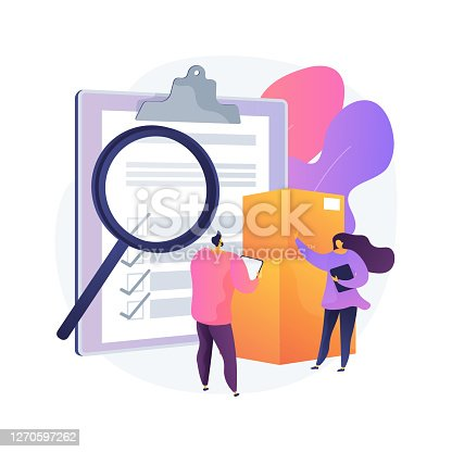 istock Product quality control abstract concept vector illustration. 1270597262