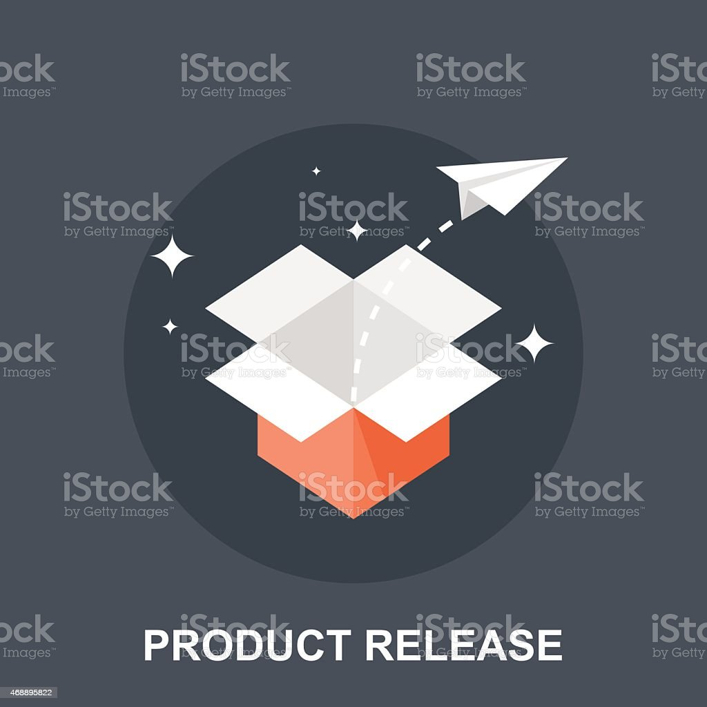 Product Release vector art illustration