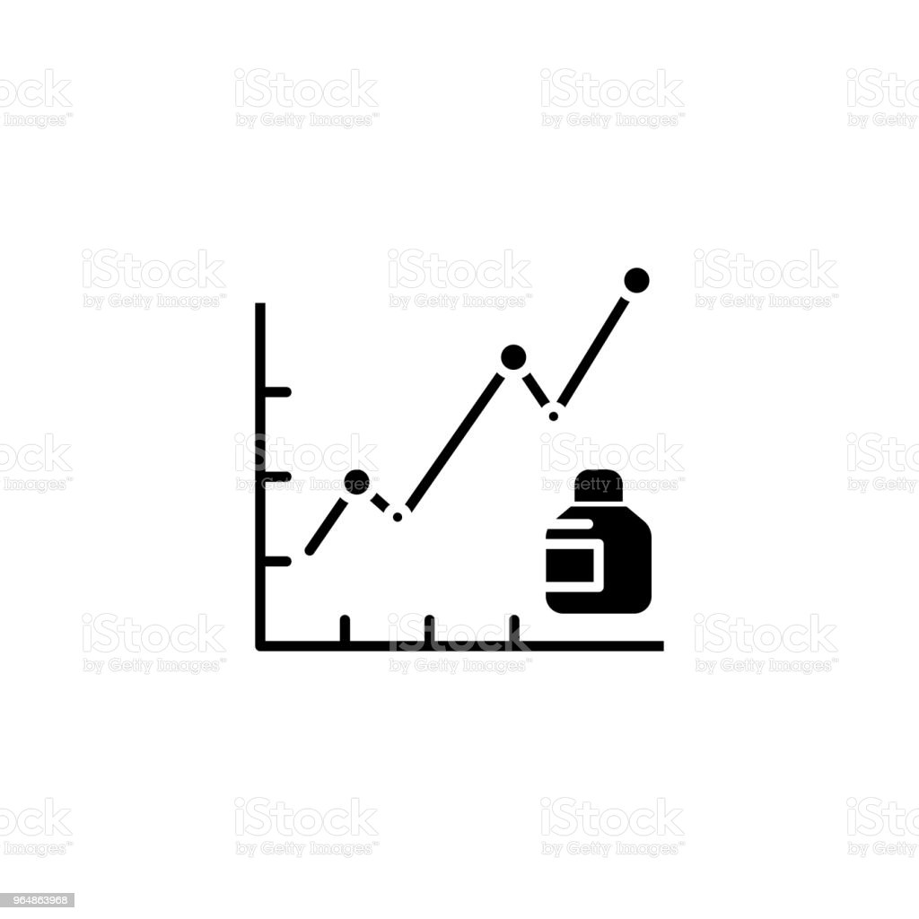 Product sales black icon concept. Product sales flat  vector symbol, sign, illustration. royalty-free product sales black icon concept product sales flat vector symbol sign illustration stock vector art & more images of advertisement