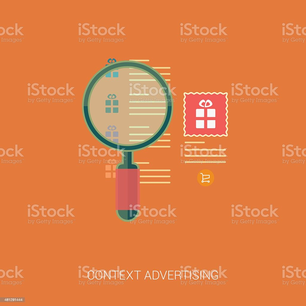 Product search and context advertising icons