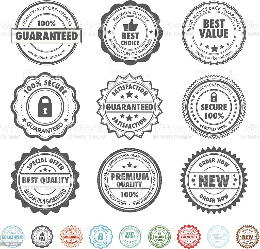 Product stamps vector art illustration
