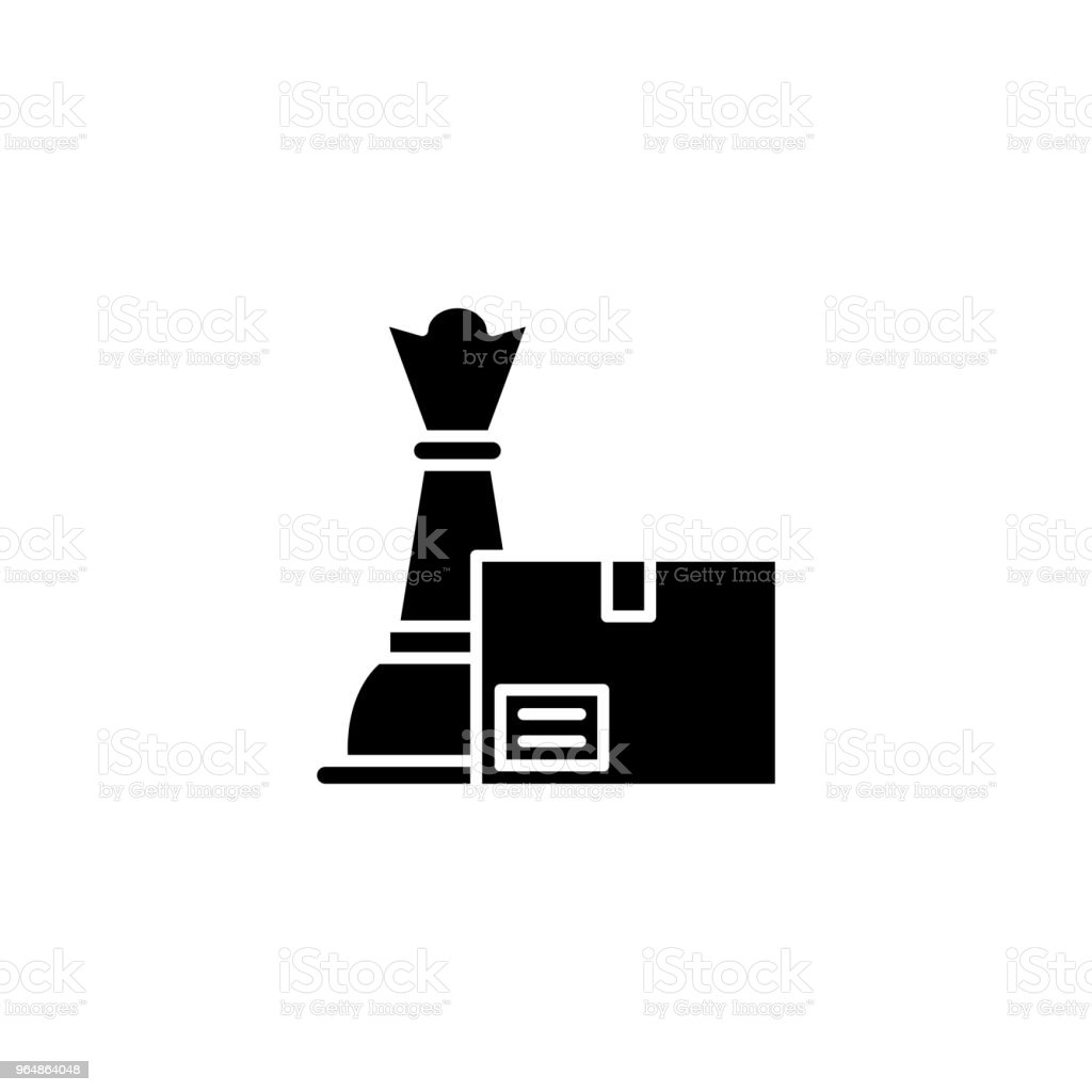 Product strategy black icon concept. Product strategy flat  vector symbol, sign, illustration. royalty-free product strategy black icon concept product strategy flat vector symbol sign illustration stock vector art & more images of business