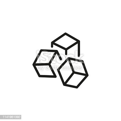 Product unit line icon. Marketing, presentation, advertising. Abstract product concept. Vector illustration can be used for topics like promotion, business, development