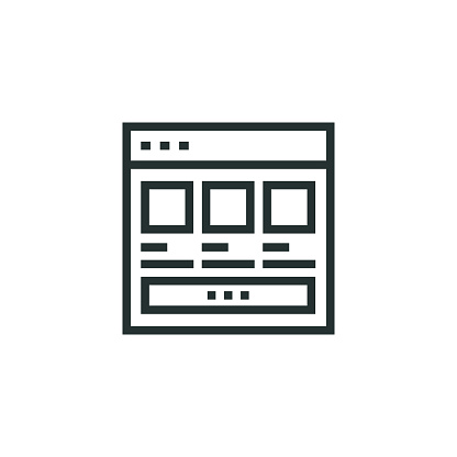 Product Website Line Icon