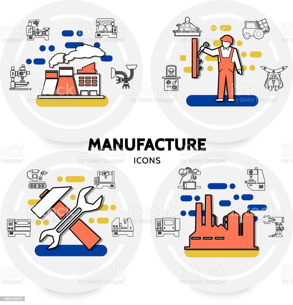 Production et fabrication Concept - clipart vectoriel de Automatisé libre de droits