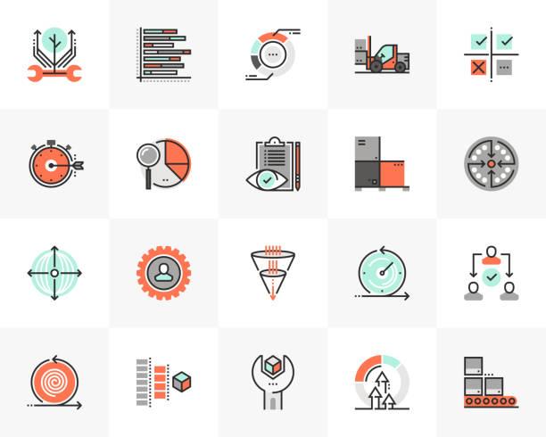 Production Line Futuro Next Icons Pack vector art illustration
