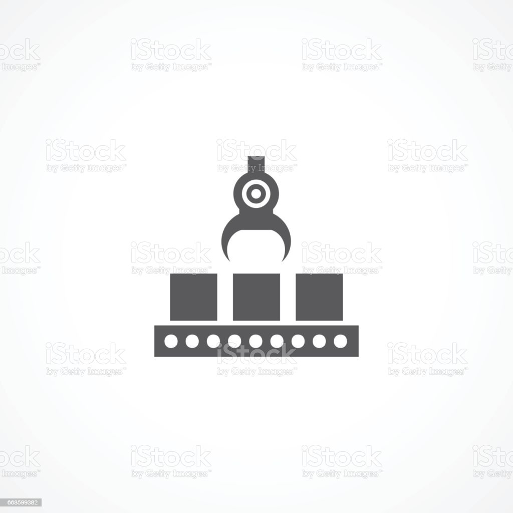 Production line icon vector art illustration
