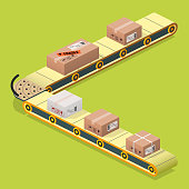 production line - isometric