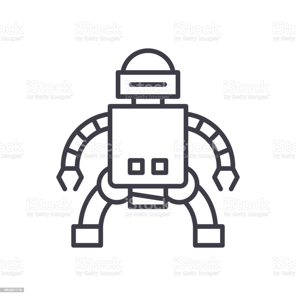 Production of androids black icon concept. Production of androids flat  vector symbol, sign, illustration. royalty-free production of androids black icon concept production of androids flat vector symbol sign illustration stock vector art & more images of arm