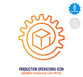 istock Production Operations Continuous Line Editable Stroke Line 1254297500
