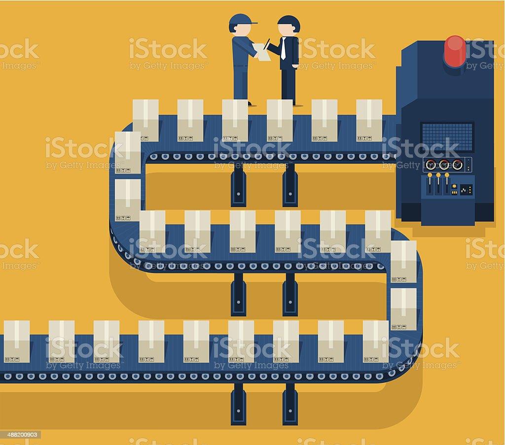 Production Profit vector art illustration