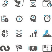 Productive & Efficiency Icon Set | Concise Series