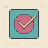 Productivity app. Unique and creative illustration. Flat design thin line style. Usage for e-mail newsletters, web banners, headers, blog posts, print and more. Vector.