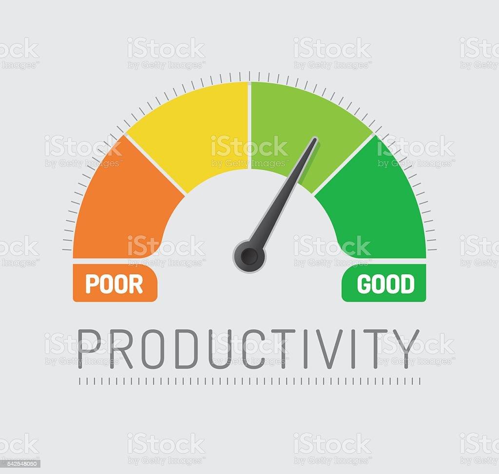 Productivity Chart vector art illustration