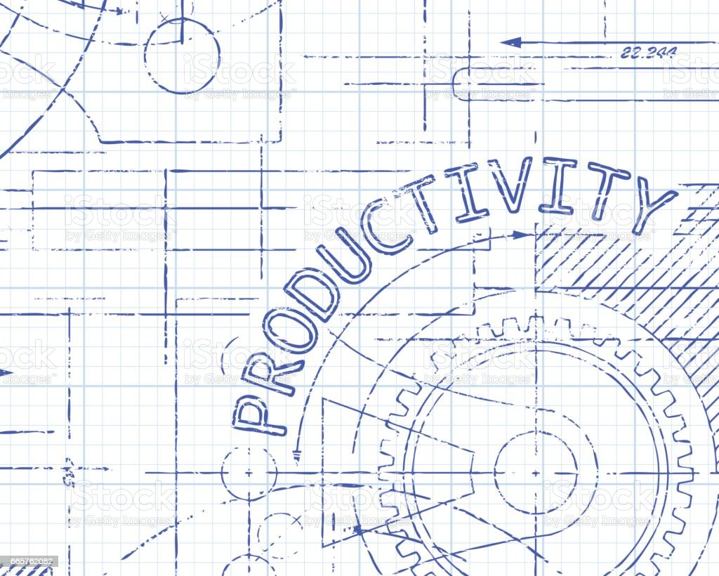 Productivity graph paper machine stock vector art 665762082 istock graph working uk bicycle gear blueprint malvernweather Gallery