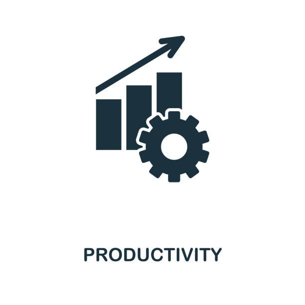 produktivität-symbol. monochrome style icon-design von projekt-management-icon-sammlung. ui. illustration der produktivität-symbol. einsatzbereit in web-design, apps, software, zu drucken. - flat icons stock-grafiken, -clipart, -cartoons und -symbole