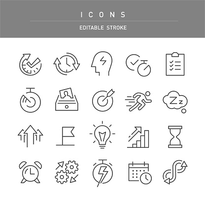 Productivity Icons - Line Series