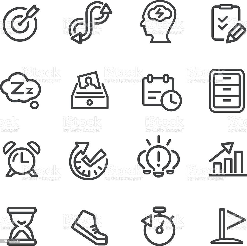 Productivity Icons - Line Series vector art illustration