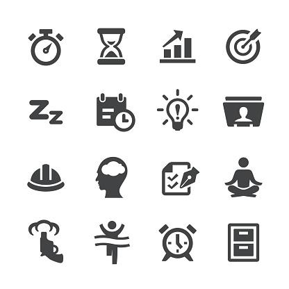 Productivity Icons Set - Acme Series