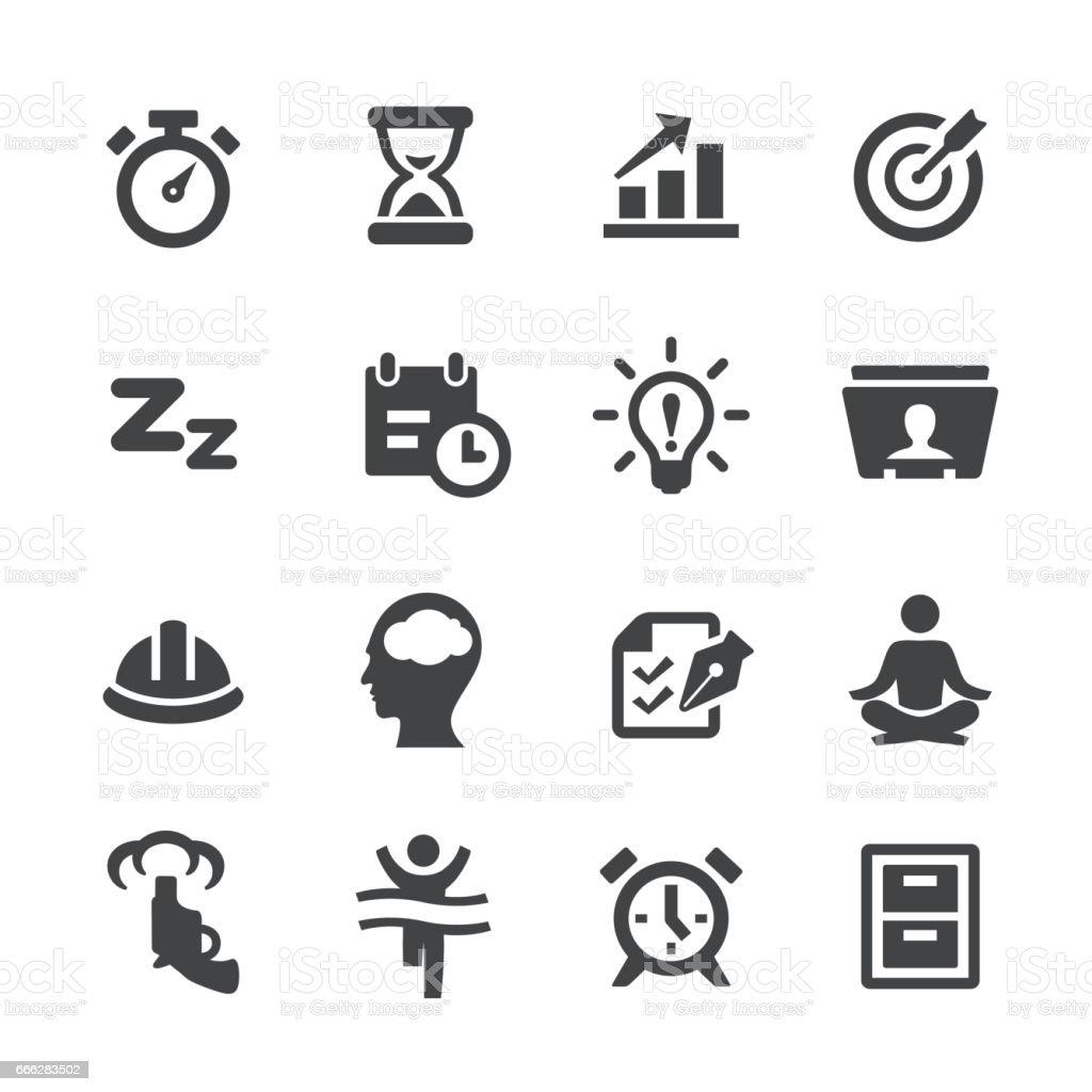 Productivity Icons Set - Acme Series vector art illustration