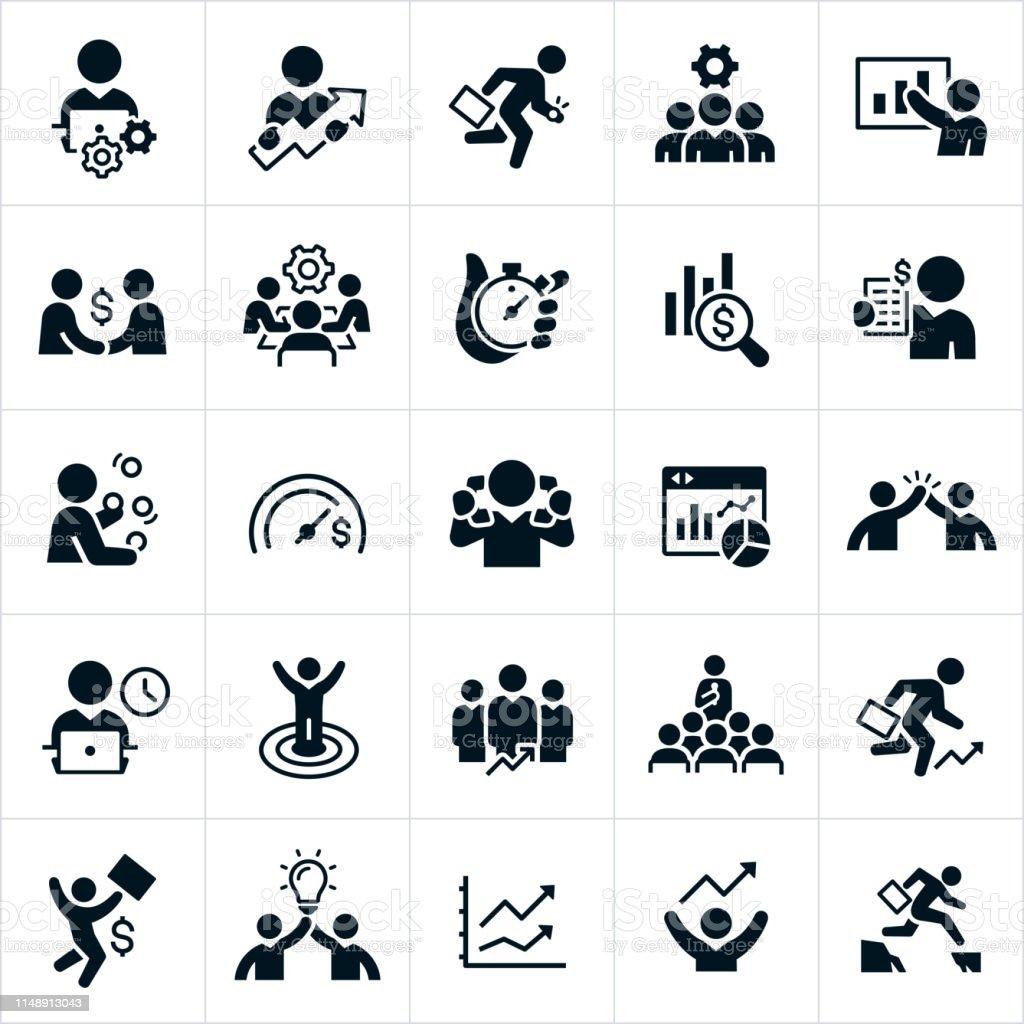 Productivity Icons - Royalty-free A usar um telefone arte vetorial