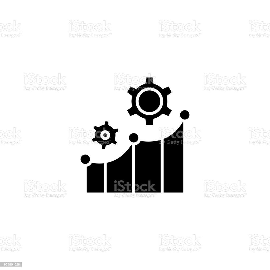 Productivity indicators black icon concept. Productivity indicators flat  vector symbol, sign, illustration. royalty-free productivity indicators black icon concept productivity indicators flat vector symbol sign illustration stock vector art & more images of achievement