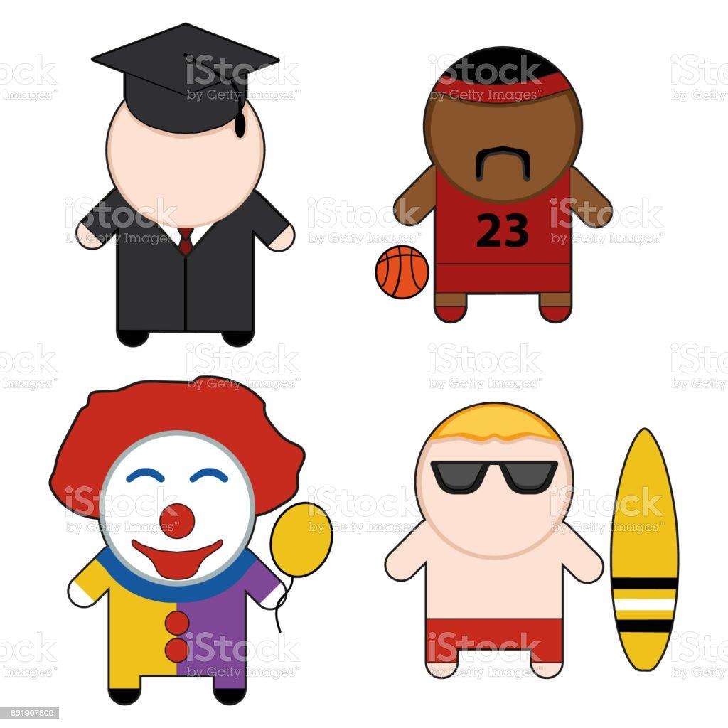 Profession and stuff characters set. Vector illustration EPS10. vector art illustration
