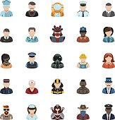 People Avatar Icons and Professions