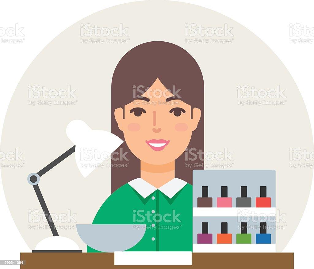 Profession - manicurist vector illustration flat style royalty-free profession manicurist vector illustration flat style stock vector art & more images of adult