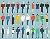 Profession People set. People avatar icons. Vector