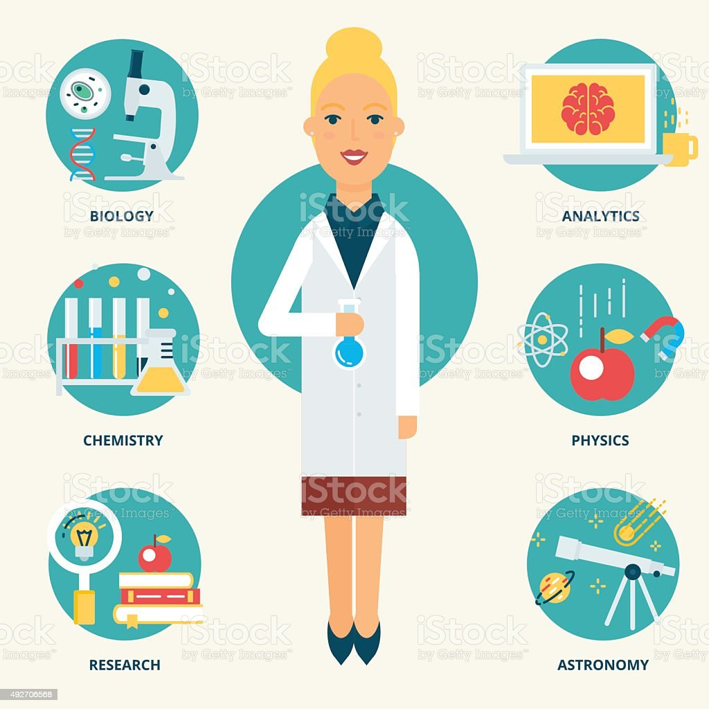 profession scientist vector illustration flat style stock illustration download image now istock https www istockphoto com vector scientist vector illustration flat style gm492706568 76469927