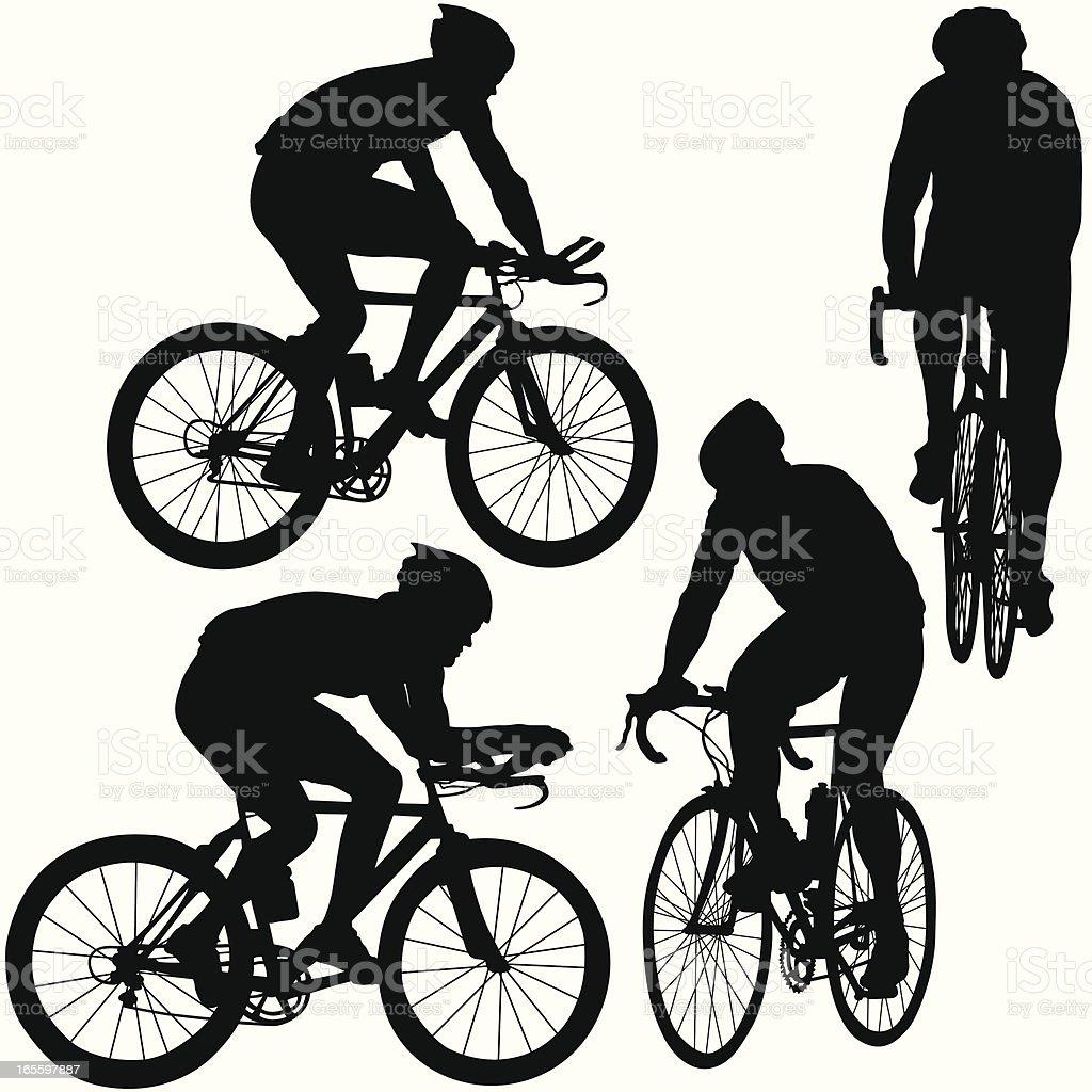 Juego profesional Bicyclists silueta ilustración de juego profesional bicyclists silueta y más banco de imágenes de actividad libre de derechos