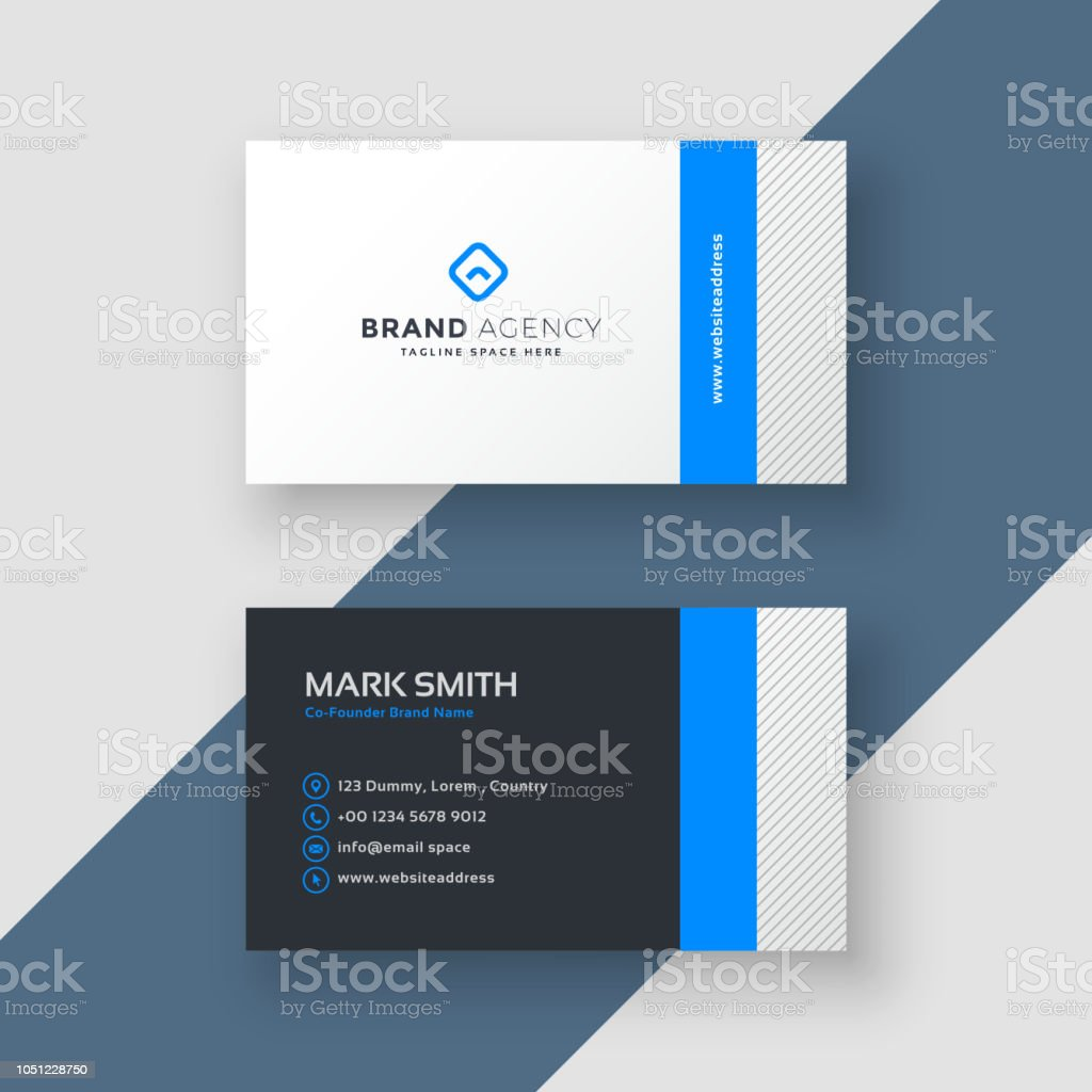 Professional blue minimal style business card template stock vector professional blue minimal style business card template royalty free professional blue minimal style business card cheaphphosting Gallery
