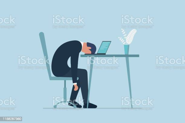 Professional burnout syndrome exhausted sick tired male manager in vector id1158287360?b=1&k=6&m=1158287360&s=612x612&h=qjhdbnvmdjtxqrhvcbihgjmcjzninkwtwoadmt46l5c=