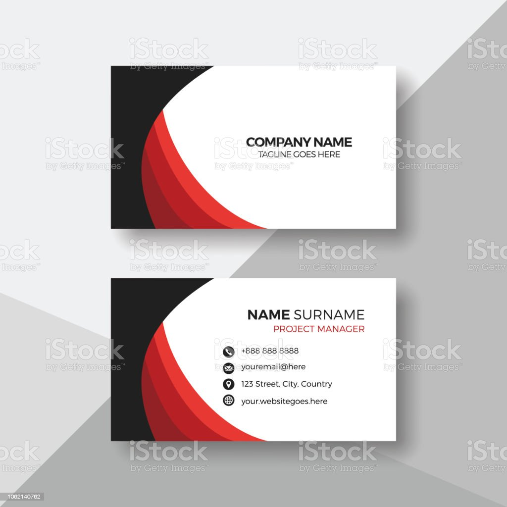 Professional Business Card Design Template Stock Vector Art More
