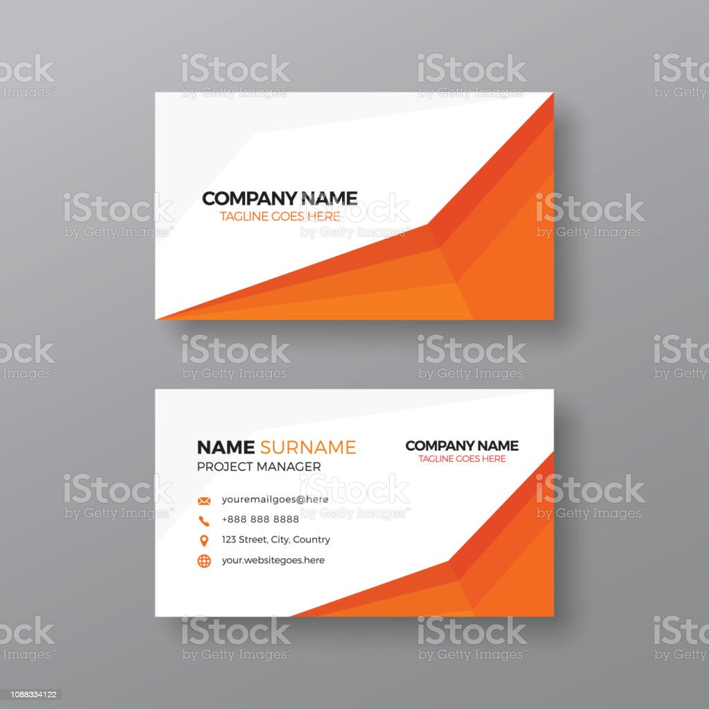 Professional Business Card Design Template Stock