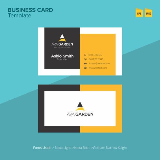 Professional Business Card Design Template Professional Business Card and letterhead Design layout fully editable vector graphics business cards templates stock illustrations