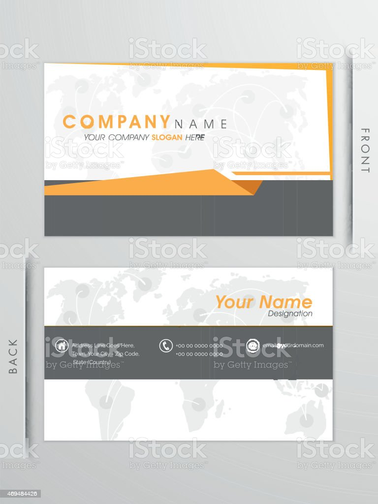 Professional Business Card Or Visiting Card Design stock vector ...