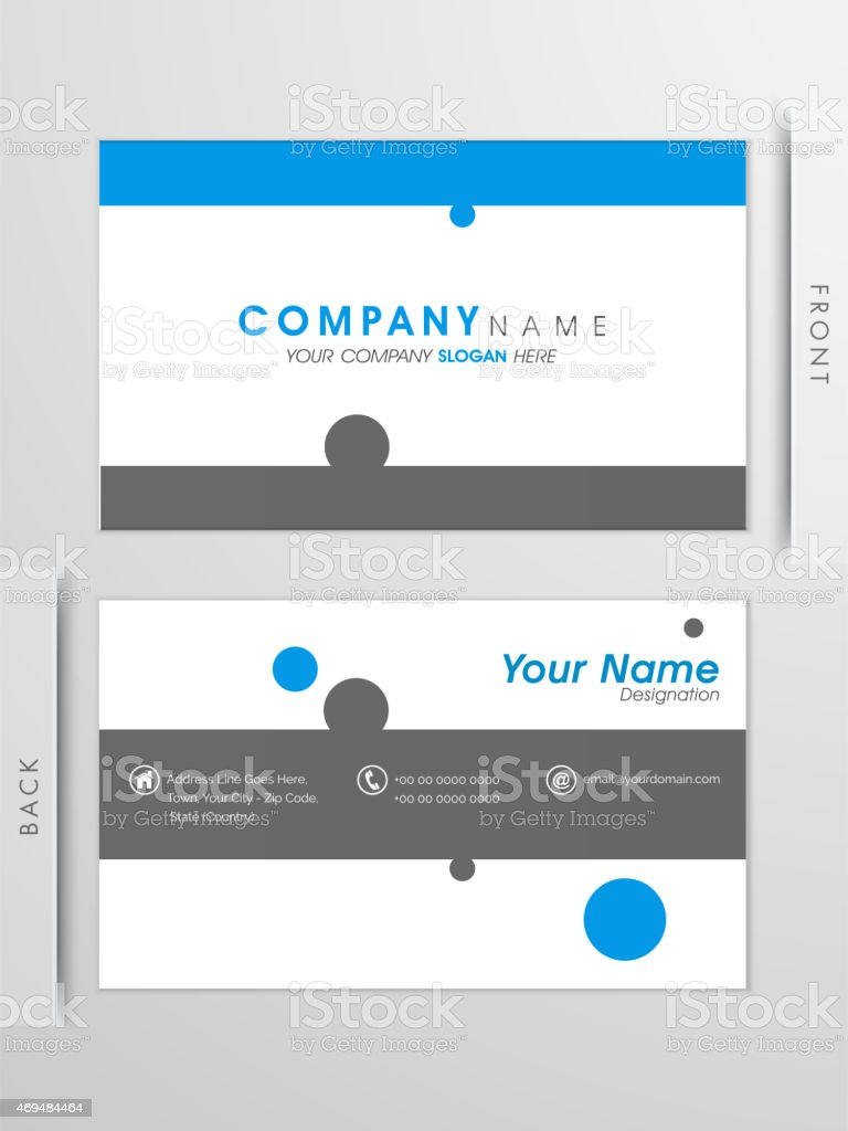 Professional business card or visiting card stock vector art professional business card or visiting card royalty free stock vector art magicingreecefo Gallery
