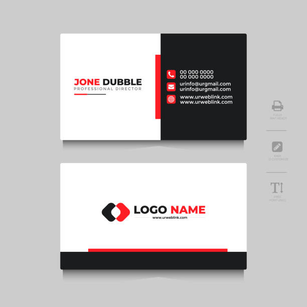 Professional Business card Template Front and back Professional Business card Template Front and back business cards templates stock illustrations