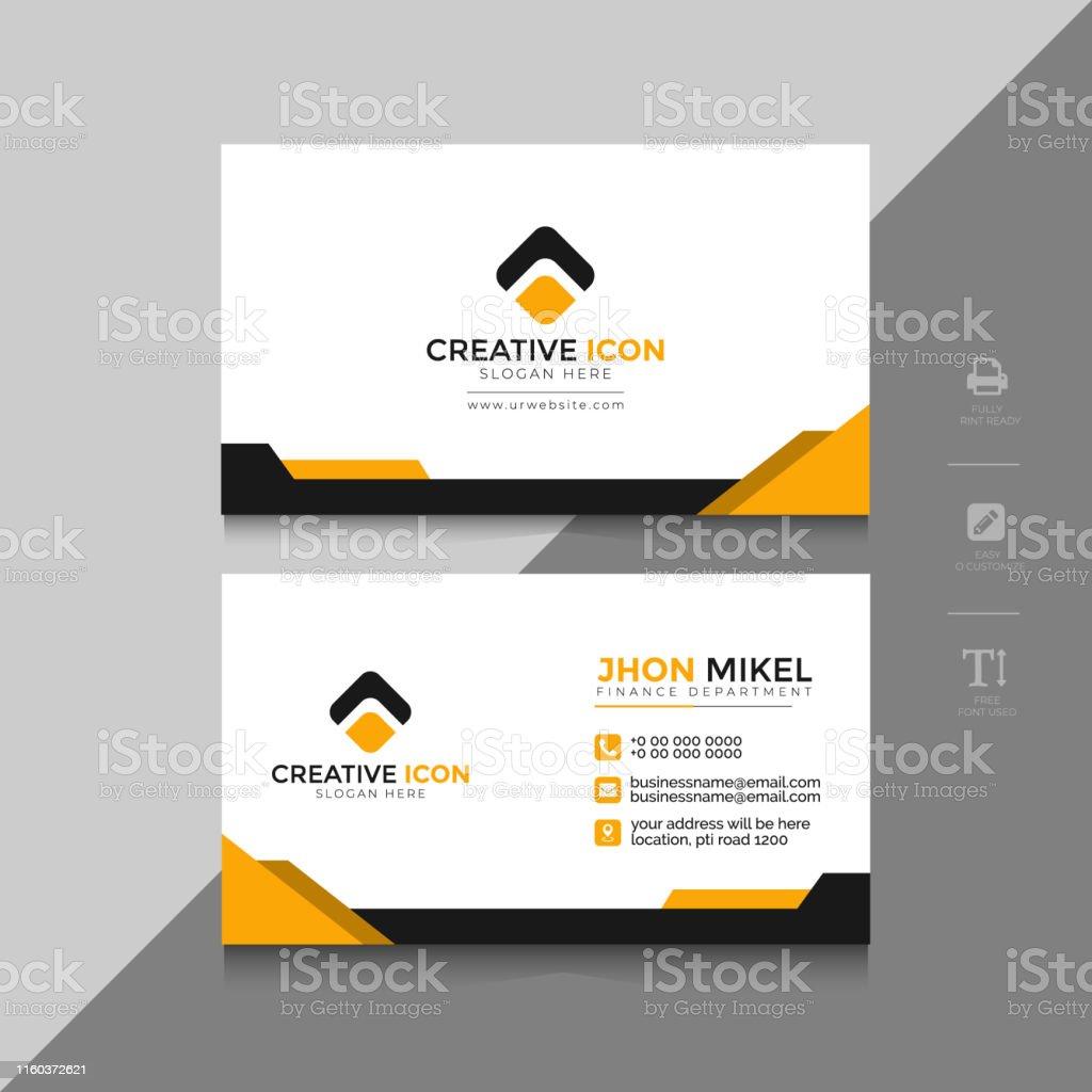 Professionelle Visitenkarte Vorlage Vorne Und Rückseite