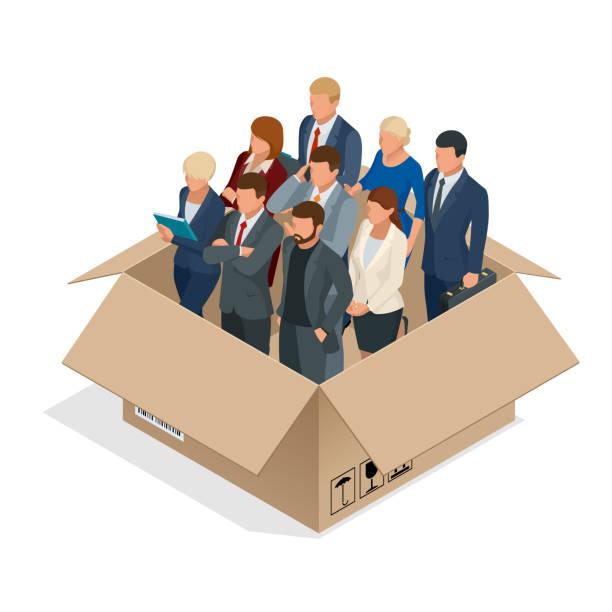 ilustrações de stock, clip art, desenhos animados e ícones de professional business team concept. multi-cultural office staff. the business team isolated. - portrait of confident business